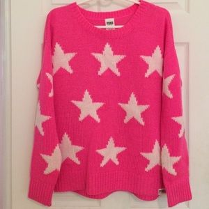 Hot Pink knit sweater from PINK size large